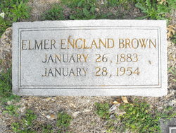 Mrs Elmer <i>England</i> Brown