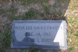 Rosa Lee <i>Sauls</i> Frazier