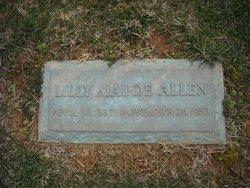 Lilly Maude <i>Bramlett</i> Allen