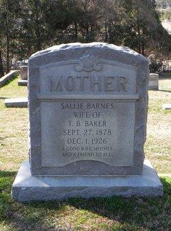 Sallie <i>Barnes</i> Baker