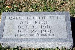 Mable Lolette <i>Still</i> Atherton