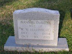 Nannie Evelyn <i>Debusk</i> Ellenburg