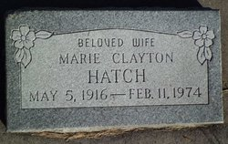 Marie <i>Clayton</i> Hatch