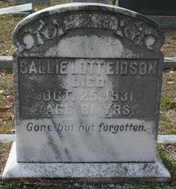 Sallie <i>Lott</i> Eidson