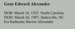 Gene Edward Alexander