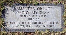 Lamantha Orange <i>Peddy</i> Beckham