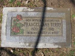 Frances Jane <i>Hoover</i> Berry