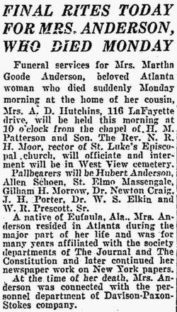 Martha <i>Goode</i> Anderson