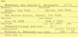Carrie L. <i>Brumaghim</i> Brainard