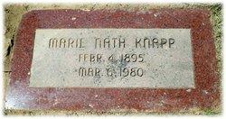 Marie <i>Nath</i> Knapp