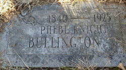 Phebe <i>Knight</i> Bullington