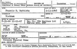 LCpl Francis D. Battista