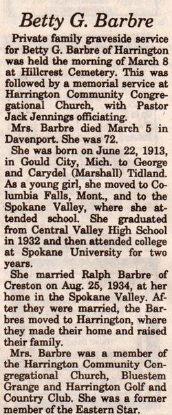 Betty G. Barbre