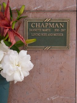Dannette Marye Danny <i>Norris</i> Chapman