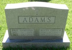 Betty <i>Creech</i> Adams