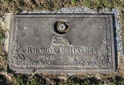 Rhonda Elaine <i>Rittenhouse</i> Haynes