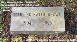 Mary <i>Skipwith</i> Brown