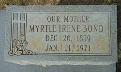 Myrtle Irene <i>Brooks</i> Bond