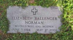 Elizabeth <i>Ballenger</i> Norman