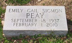 Emily Gail <i>Sigmon</i> Peay