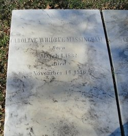 Caroline <i>Whidbee</i> Massingham