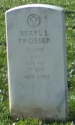 Pvt Beryl L Prosser
