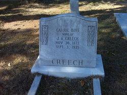Carrie <i>Birt</i> Creech