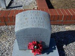 Infant Daughter Albert