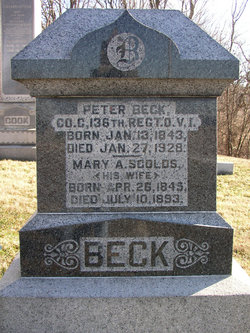 Mary Ann <i>Scholes</i> Beck