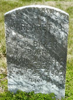 Margaret Ann <i>Poindexter</i> Baker