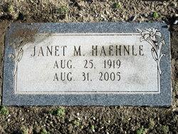 Janet M. Haehnle