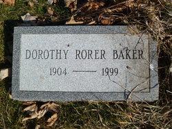 Dorothy Rorer Baker