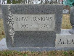 Ruby <i>Hankins</i> Alexander