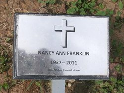 Nancy Ann <i>Dillard</i> Franklin