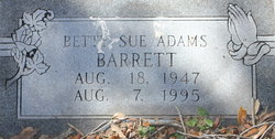 Betty Sue <i>Adams</i> Barrett