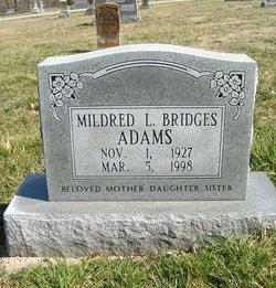Mildred L <i>Bridges</i> Adams