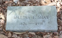Martha F Shaw