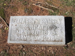 Elizabeth <i>Ramsey</i> Surratt
