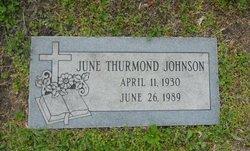 June <i>Thurmond</i> Johnson