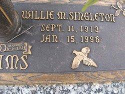 Willie M. <i>Singleton</i> Adams