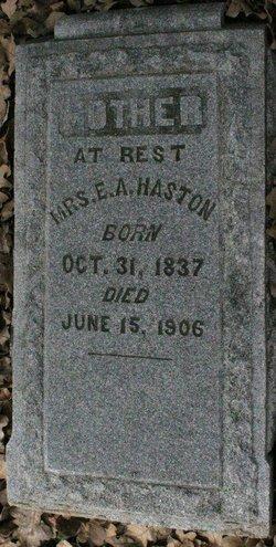 Mrs Elvira Ann <i>Miller</i> Haston