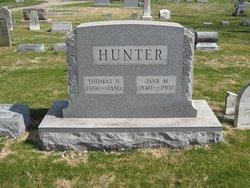 Jane M <i>Musgrove</i> Hunter