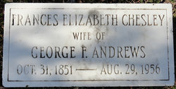 Frances Elizabeth <i>Chesley</i> Andrews