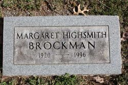 Margaret <i>Highsmith</i> Brockman