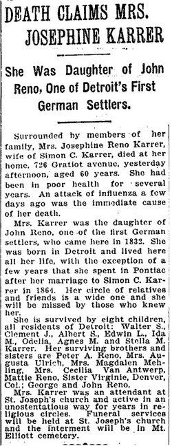 Anna Maria Josepha <i>Reno</i> Karrer