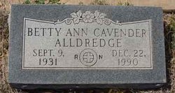 Betty Ann <i>Cavender</i> Allredge