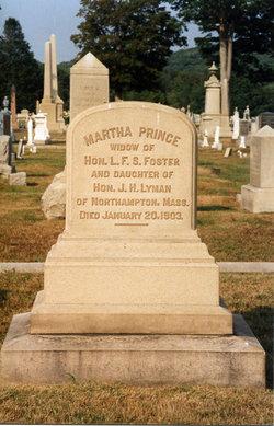 Martha Prince <i>Lyman</i> Foster
