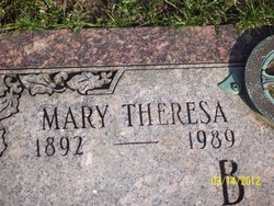 Mary Theresa <i>Bohan</i> Butz