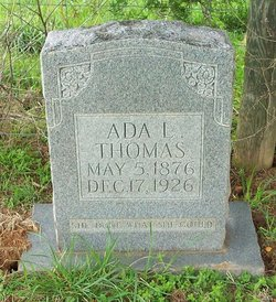 Ada L. <i>Wells</i> Thomas