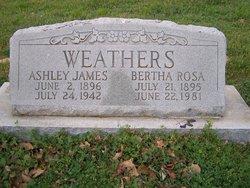Bertha Rosa <i>Wigley</i> Weathers